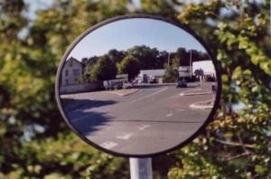 miroir portail électrique